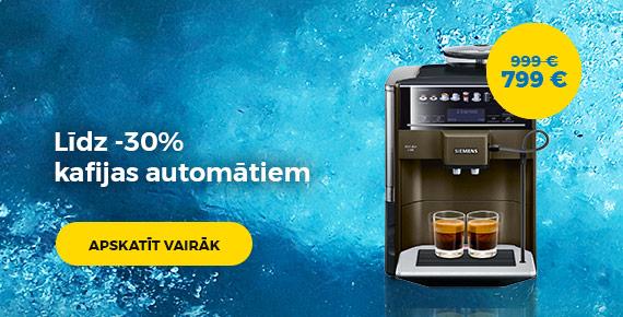 Līdz -30% kafijas automātiem