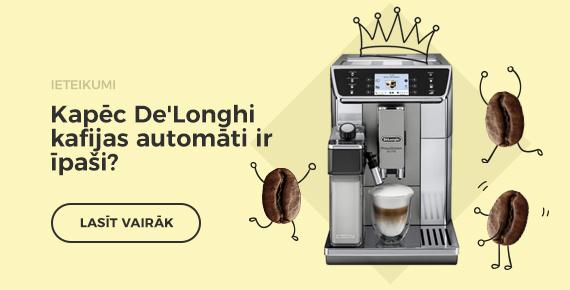 Kapec delonghi kafijas automati ir ipasi?