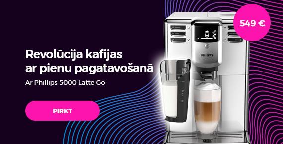 """""""Philips 5000 LatteGo"""" kafijas automāts tikai par 549 €"""