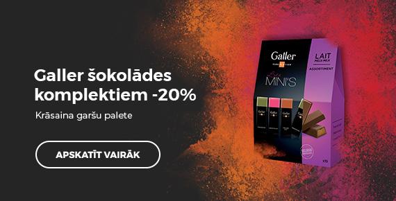 Galler šokolādes komplektiem -20%