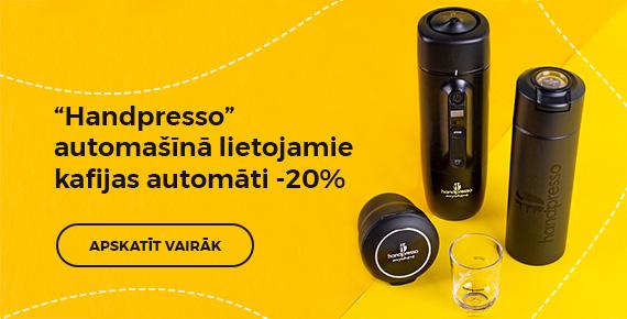 """Handpresso"" sortimentam -20%"