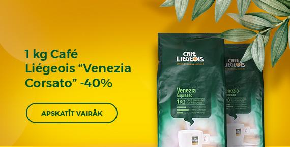 """1 kg Café Liégeois """"Venezia Corsato"""" -40%"""