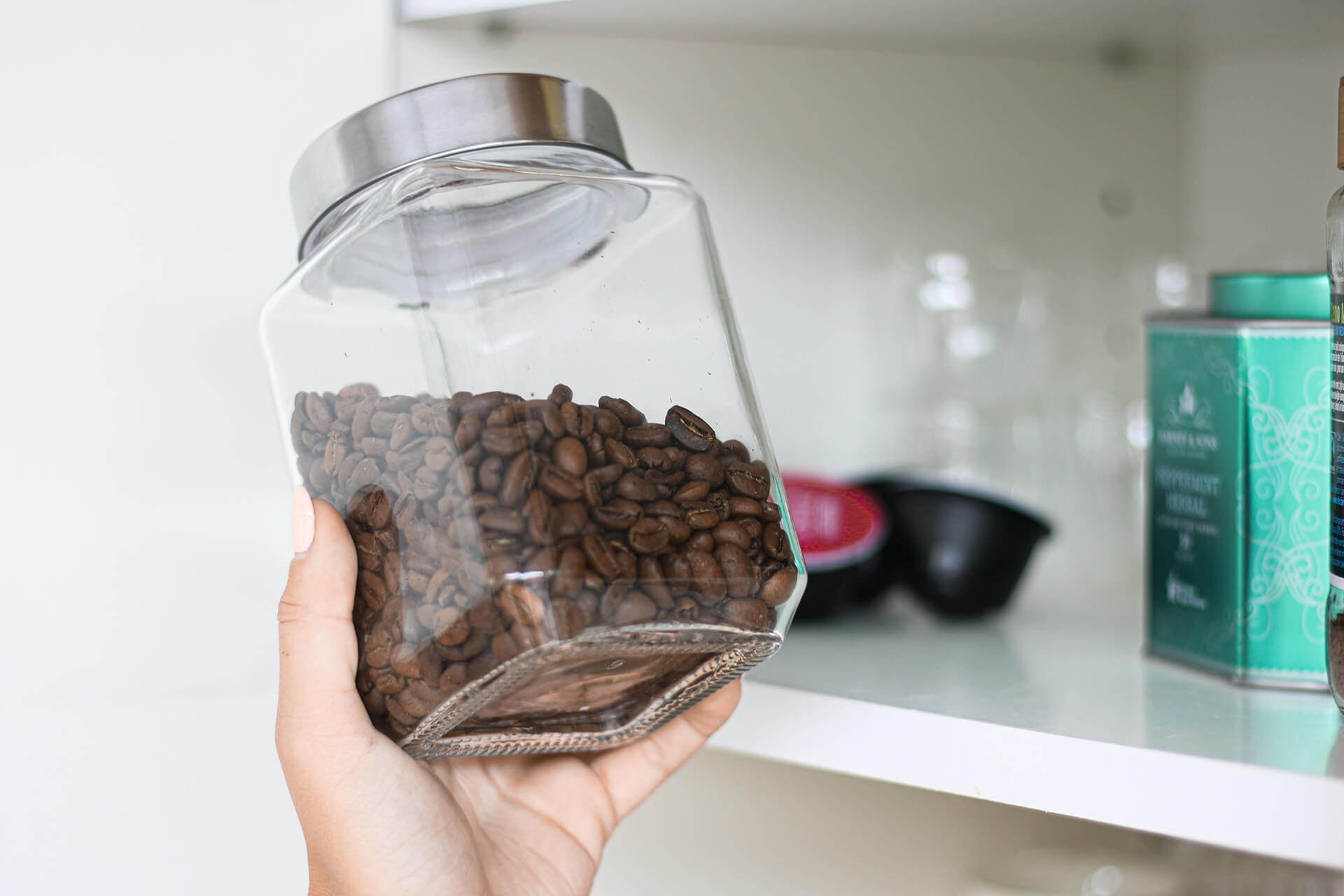 kā uzglabāt kafijas pupiņas