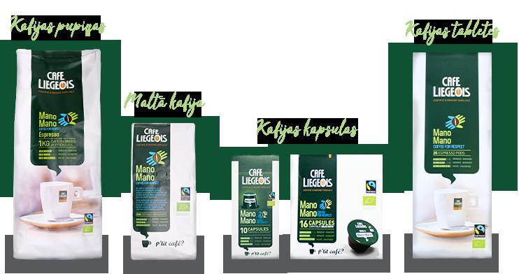 Café Liégeois Mano Mano Fairtrade kafijai -25%