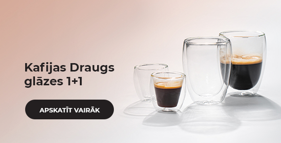 Kafijas Draugs glāzes 1+1