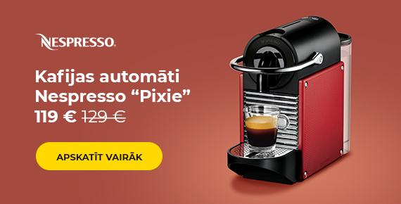"Kafijas automāti Nespresso ""Pixie"" 119 €"
