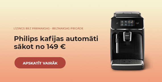 Philips kafijas automāti sākot no 149 €