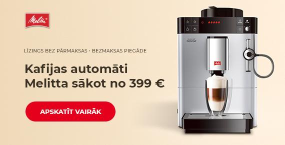 Kafijas automāti Melitta sākot no 399 €
