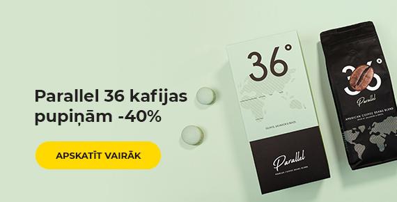 Parallel 36 kafijas pupiņām -40%