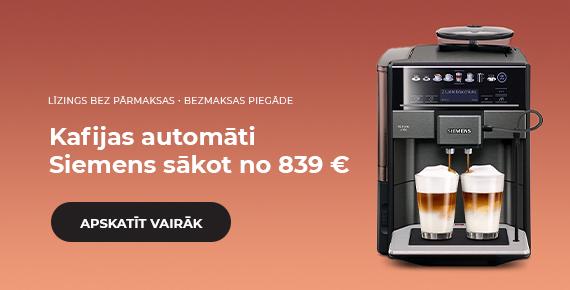 Siemens kafijas automāti sākot no 839 €