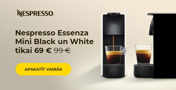 Nespresso Essenza Mini Black un White tikai 69 €