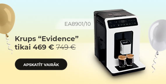 "Krups ""Evidence EA8901/10"" kafijas automāts tikai 469 €"