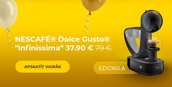 "Kafijas automāts NESCAFÉ® Dolce Gusto® ""Infinissima EDG 160.A"" tikai 37.90 € 79 €"