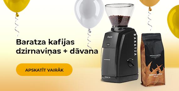 Baratza kafijas dzirnaviņas + dāvana