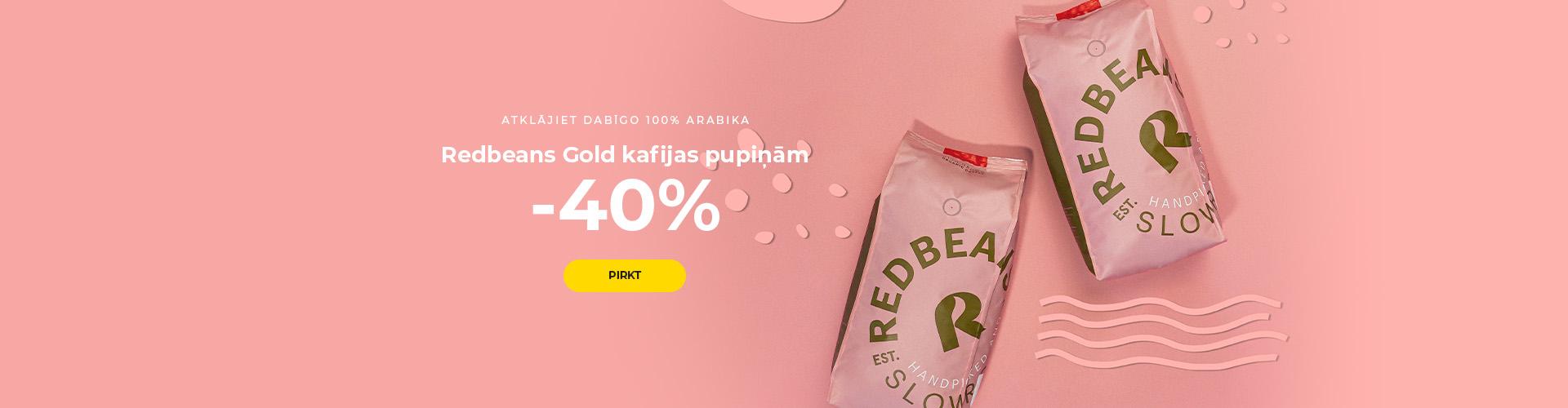 Redbeans Gold kafijas pupiņām -40%