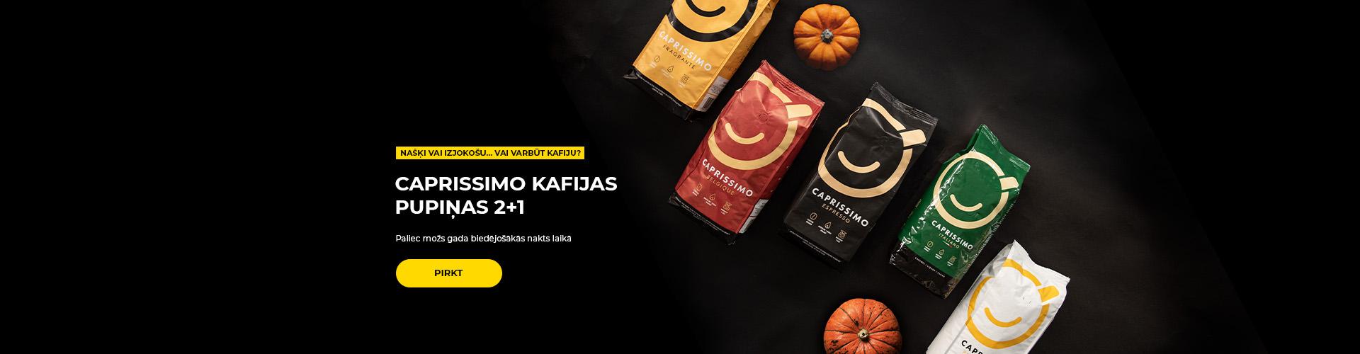 Caprissimo kafijas pupiņas 2+1